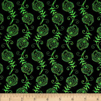 Contempo Feathers Black/Green