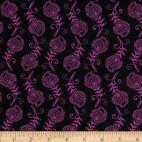 Contempo Feathers Black/Fuchsia