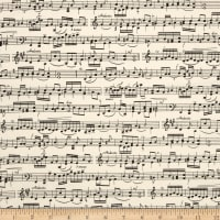 Timeless Treasures Sheet Music Cream
