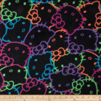 Hello Kitty Neon Packed Heads Fleece