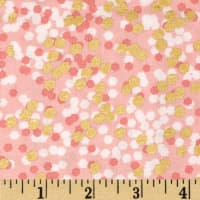 Michael Miller Brambleberry Ridge Shimmer Reflection Peach Metallic