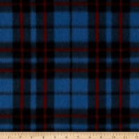 Fleece Prints Miles Plaid Royal