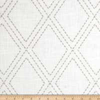 Jaclyn Smith 02615 Embroidered Diamonds Dove Gray