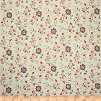 French General Embroidered Mina Floral Indigo