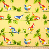 Richloom Solarium Outdoor Curious Birds Soleil