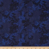 "Essentials 108"" Wide Quilt Back Flourish Navy"