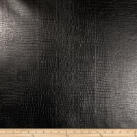Richloom Faux Leather Reptile Black
