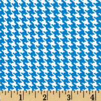 Spotlight Houndstooth Turquoise/White