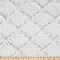 Shannon Minky Luxe Cuddle Lattice Snow