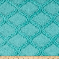 Shannon Minky Luxe Cuddle Lattice Aruba