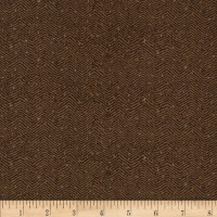 Downton Abbey II Herringbone Dark Brown