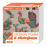 "Foamology Six Piece Design Foam Tangram 12"" x 12"" x 1"""