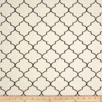 Kaslen Hepburn Embroidered Quatrefoil Black