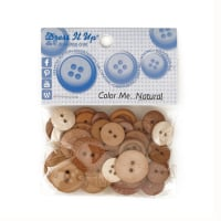 Dress It Up Color Me Collection Buttons Natural
