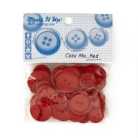 Dress It Up Color Me Collection Buttons Red