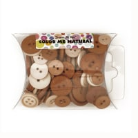Dress It Up Color Me Collection Pillow Pack Buttons Natural