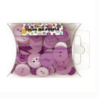 Dress It Up Color Me Collection Pillow Pack Buttons Purple