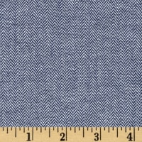 Kaufman Chambray Union Small Herringbone Indigo