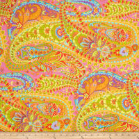 Kaffe Fassett Collective Paisley Jungle Lime