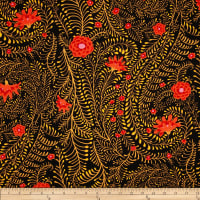 Kaffe Fassett Collective Ferns Black