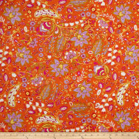 Dena Designs Home Décor Linen Blend Sunshine Bellflower Orange