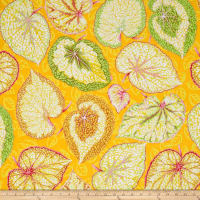 Kaffe Fassett Collective Big Leaf Yellow