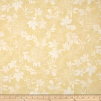 "108"" Wide Quilt Back Modern Leaf Tan/White"