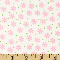 Cozy Cotton Flannel Floral Pink