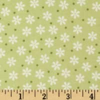 Cozy Cotton Flannel Floral Celery