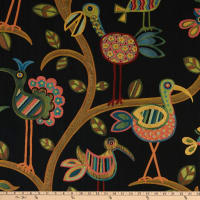 Swavelle Crazy Ol' Bird Jacquard Midnight