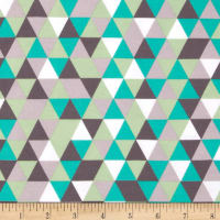 Riley Blake Cotton Jersey Knit Cottage Triangles Gray