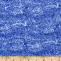 QT Fabrics Under the Sea Starfish Tonal Dark Blue