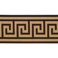 "6"" Woven Home Decor Greek Key Tape Chocolate"
