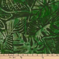 Kaufman Artisan Batiks Totally Tropical Fern Leaves Palm