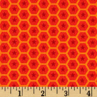 At the Zoo Tonal Honeycomb Red