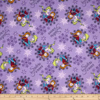 Disney Frozen Flannel Sisters Ice Skating Snowflake Frames Purple