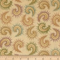 "108"" Quilt Backing Spiced Paisley Dark Tan"