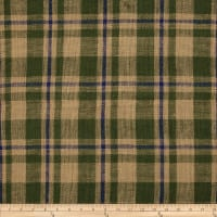 "60"" Sultana Burlap Plaid Moss/Royal"