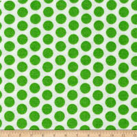 Basic Training Medium Dot White/Lime Green