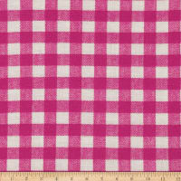 Basic Training Gingham Fuchsia/White