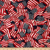 Made in the USA Waving Flags Red, White, Blue