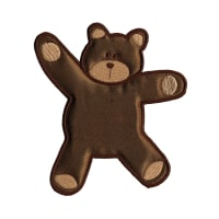 Wrights Especially Baby Iron On Applique Brown Bear