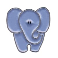 Simplicity Especially Baby Iron On Applique Blue Elephant