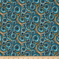 Sea Turtles Swirls Turquoise