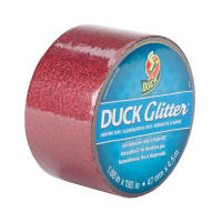 "Glitter Duck Tape 1.88"" x 180""-Red Sparkle"