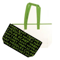 Lion Brand Yarn 2-in 1 Yarn Tote Green