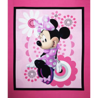 "Disney Minnie Bowtique Minnie 36"" Panel Pink"