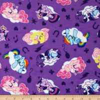 Hasbro My Little Pony Traditional Flannel Sleeping Ponies Lavender
