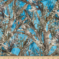 E.Z. Fabric Minky True Timber Woodlands Blue