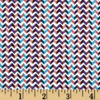 Little Tinies Chevron Stripe Wine